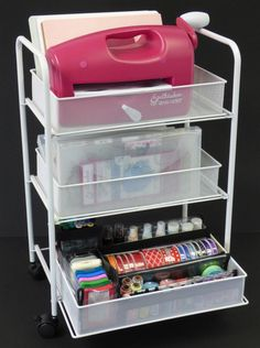 The perfect crafting cart for organizing all your scrapbook and craft supplies.