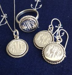 Sterling Silver Nala Collection - Available on Marleylilly.com #ring #necklace #earrings
