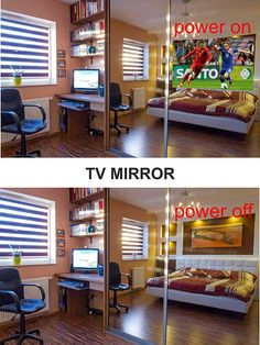Amazing MIRROR TV  on cabinet by MITSAKOS GLASS