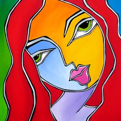 Pop Art Painting - Find A Way - Original Abstract Art By Fidostudio by Tom Fedro - Fidostudio Tom Fedro, Pop Art Collage, Abstract Faces, Abstract Paintings, Art Paintings, Contemporary Abstract Art, Arte Pop, Pablo Picasso, Abstract Photography