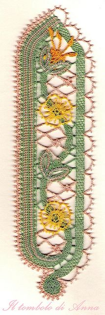 bookmark flowers by anna's lace