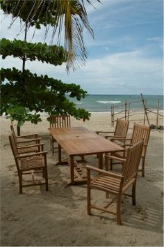 Anderson 8u0027 Rectangle Table U0026 Armchairs 9 Pc.Teak Patio Set Not Only At