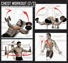 Chest Workout Part 2 - Healthy Fitness Training Routine Arms Abs - Yeah We Workout !