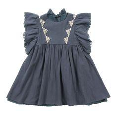 Siberia Dress in Dark Grey Little Girl Fashion, Kids Fashion, Little Girl Dresses, Girls Dresses, Louise Misha, Cute Outfits For Kids, Kid Styles, Baby Dress, Cool Kids