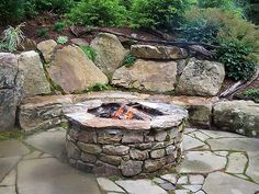 Firepits - P.O.P.S. Landscaping by Eberly & Collard Public Relations, via Flickr Fire Pit Ring, Diy Fire Pit, Fire Pit Backyard, Patio Diy, Outside Fire Pits, Fire Pit Seating, Seating Areas, Outdoor Seating, Backyard Seating
