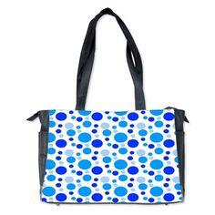 Bubbly Blue Spots Diaper Bag
