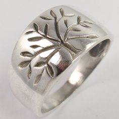 925 Sterling Silver TREE OF LIFE Designer Band Ring Size US 6.75 Indian Jewelry #Unbranded