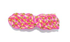 Azalea and yellow celtic knot irish dance hair by RinceCouture