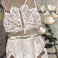Morning whites ☁️ Shop Ruby Bra and Panty Set on our site. #ForLoveAndLemons #DownToYourSKIVVIES