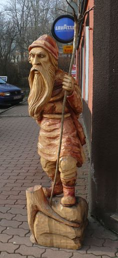 """Photo taken in Swieradow Zdroj -  It is interesting that these images are produced mainly """"on the German fashion,"""" ie, the Spirit Mountains is in the form of a bearded old man, sometimes a half-naked. On the Czech side of the mountains also mass-produced figurines Karkonosz, but there it is usually in the form of the hunter or forester - occurs in a green jacket, hat, with a pipe."""