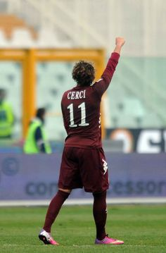 Alessio Cerci in Torino's 2-0 victory over Pescara at Stadio Adriatico in match-day twenty-one of Serie 1.