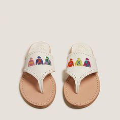 Embroidered Derby jackets sandal - equestrian style