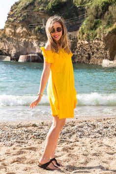 Robe jaune hippie chic