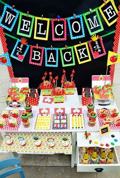 Back to school dessert table... fabulous! #backtoschool #desserttable