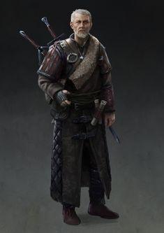 ArtStation - Crazy old Witcher, Luke Kendall Fantasy Character Design, Character Design Inspiration, Character Concept, Character Art, The Witcher, Witcher Art, Fantasy Male, Fantasy Armor, Medieval Fantasy