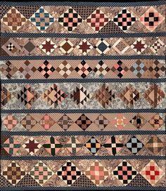 Wonderful row quilt! Made by Lizzie Jones in 1843