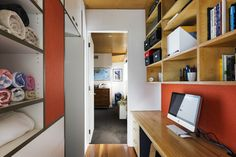 study workplace storage joinery linen closet