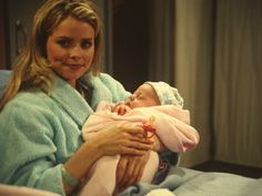 1995 - Georgie is Born Felicia gives birth to Baby Georgie under a table at Luke's Club. Then, Ryan Chamberlain kidnaps Georgie at the hospital. She is later saved at an amusement park, and Ryan dies when trying to set the fun house on fire. #GH #GeneralHospital