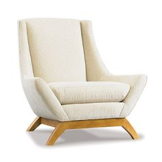 Precedent Furniture Jasper Chair in Ivory with French Oak Legs formerly DwellStudio Jensen Chair