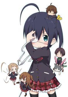 (Love Chunibyo & Other Delusions! Anime Chibi, Kawaii Chibi, Manga Anime, Koi, Rikka And Yuuta, Kyoto Animation, Ghibli Movies, Anime Nerd, Chinese Cartoon