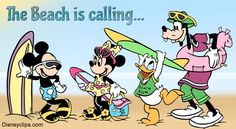 #firstdayofsummer with Mickey and Minnie Mouse, Donald Duck and Goofy