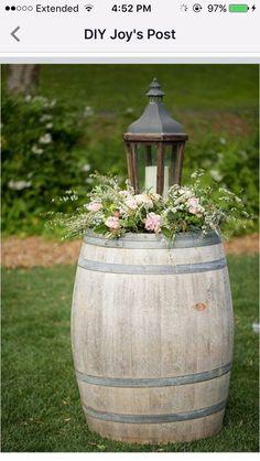 Lantern saves on cost of large floral arrangement