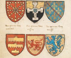 The Beyeren Armorial, also known as the Armorial of Cornelis van Aeken, was compiled by Claes Heynenzoon (also known as the Gelre Herald, circa 1345−1414), who was Ruwieren King of Arms, the chief herald of the Netherlands, around 1400. Heraldry had steadily increased in importance throughout the Middle Ages. In tournaments and on the battlefield, knights were unrecognizable once they donned their helmet and armor, unless they used a coat of arms as an identifying symbol. The coats of arms…