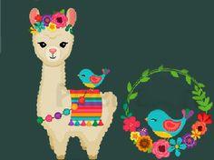Peru Llama, Arte Latina, Minnie Mouse Birthday Decorations, Cute Llama, Kawaii Cute, Female Art, Folk Art, Art For Kids, Cactus