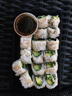 Cucumber and avocado roll.