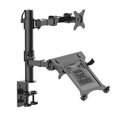 """Amazon.com : 2-in-1 FLEXIMOUNTS D1DL Full Motion Dual Arm Desk Monitor Laptop Mount Stand Fits 10""""-27"""" Computer Monitor and 11-15.6"""" Laptop : Office Products"""