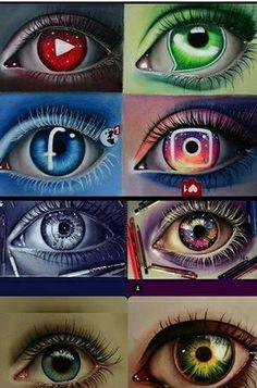 Sun, Moon or Stars? by Lighane Sun, Moon or Stars? by Lighane Cool Art Drawings, Pencil Art Drawings, Kawaii Drawings, Art Drawings Sketches, Disney Drawings, Arte Sharpie, Social Media Art, Eyes Artwork, Anime Eyes