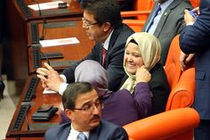 SCARF BAN LIFTED: Two female members of parliament attended a general assembly of the Turkish parliament Thursday in Ankara, Turkey. They wo...
