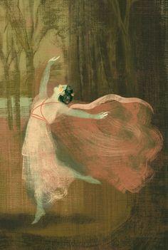 """Illustration from children's book """"Isadora Duncan"""" by Sabina Colloredo, Edizioni El, 2006. Anna & Elena Balbusso."""