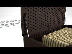 124 Gallon Extra Large Deck Box  - Extra Large Deck Boxes - Deck Boxes - Patio & Yard - Suncast® Corporation Outdoor Storage Boxes, Patio Storage, Suncast Deck Box, Outdoor Furniture, Outdoor Decor, Decks, Exterior, Front Porches, Deck