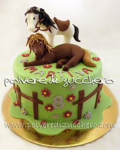 cake horses  Cake by PolverediZucchero