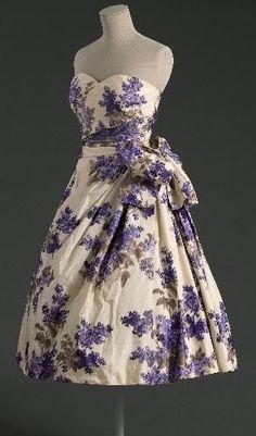 1955 Christian Dior strapless dress.