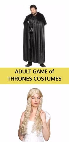 Adult Game of Thrones Costumes that are perfect for Halloween. Game of Thrones costume accessories. Halloween Teacher Gifts, Halloween Party Drinks, Halloween Gift Baskets, Themed Halloween Costumes, Game Of Thrones Halloween, Game Of Thrones Costumes, Family Costumes, Adult Costumes, Cosplay Costumes