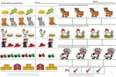 With this Farm Math themed worksheet set students will develop math skills such as classifying, sorting, ordering, addition, and subtraction and more along with fine motor skills. This Farm Math Preschool P-K, K, Special Education Worksheet set consists of 28 worksheets focusing on Common Core Math Skills.