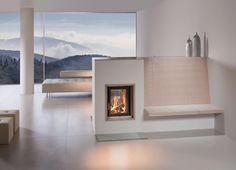 HKD the modern tiled stove - Fireplace House Heating, Modern Rustic Homes, Home Decor, Living Room Interior, House Interior, Interior Design Living Room, Interior Design, Fireplace, Wood Burning Fireplace