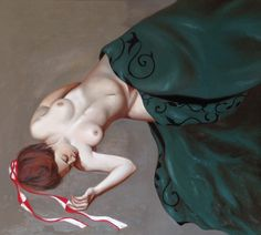 "Susy Saulle  ""Cerfs volants"" contemporary figurative oil paint"