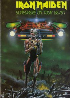 iron maiden tour posters | IRON MAIDEN 1986 SOMEWHERE ON TOUR CONCERT PROGRAM BOOK | eBay