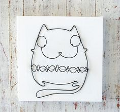 Cat by WireDreams on Etsy, $22.00