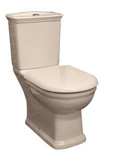 Ivory Washington Vitreous China Close Coupled Bathroom Toilet Suite