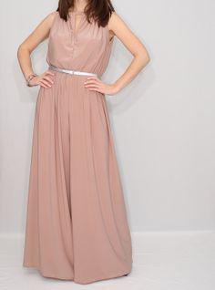 Blush Pink Jumpsuit Extra Wide Leg Pants for Women