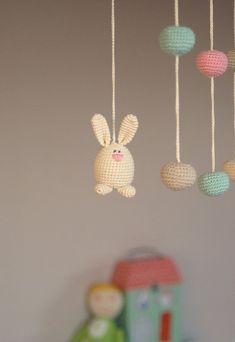 Image result for crochet rabbit baby mobile