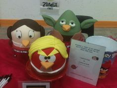 A set of Star Wars themed  Angry birds!,