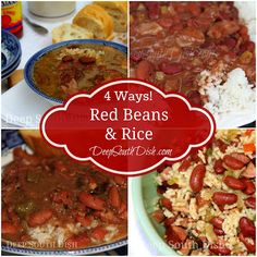 An iconic symbol in the Deep South, you will find some form of Red Beans and Rice in most homes and at many restaurants every Monday in the Deep South. Here are several ways to prepare them - all from Deep South Dish blog. From a super speedy skillet version for those busy days, to low and slow on the stovetop and homemade from scratch, my personal favorite - we have you covered!
