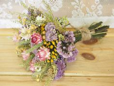 Our FIELD FLOWER Bridesmaid Dried Flower Bouquet - For a Rustic Country Wedding on Etsy, $15.00