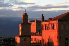 Twitter / Pirul789:  #sunset #Carpi, castello dei Pio