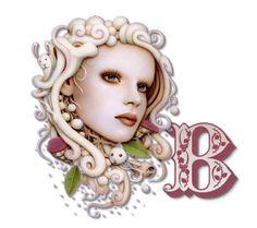 Alfabeto vintage dama soñadora. | Oh my Alfabetos!